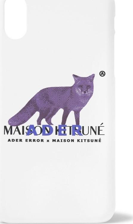 Maison Kitsune + ADER error Logo-Print iPhone X Case