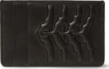 Alexander McQueen Embossed Leather Cardholder