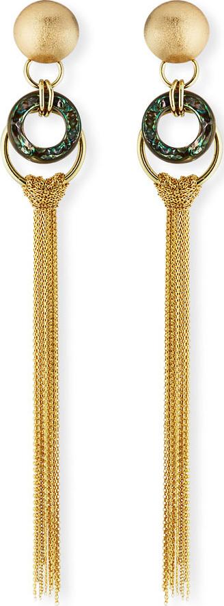 Akola Long Chain Tassel Earrings