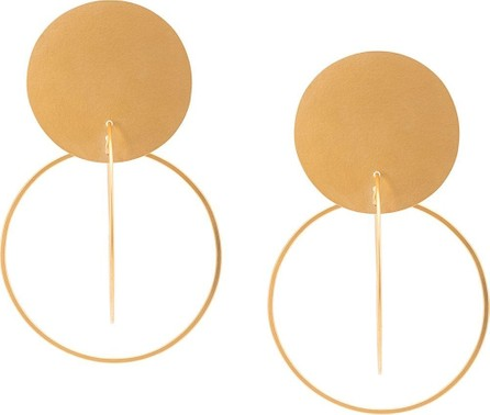 Annie Costello Brown Oversized interlinking hoop earrings