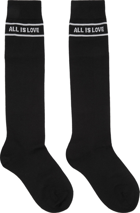 Stella McCartney Black 'All Is Love' High Socks