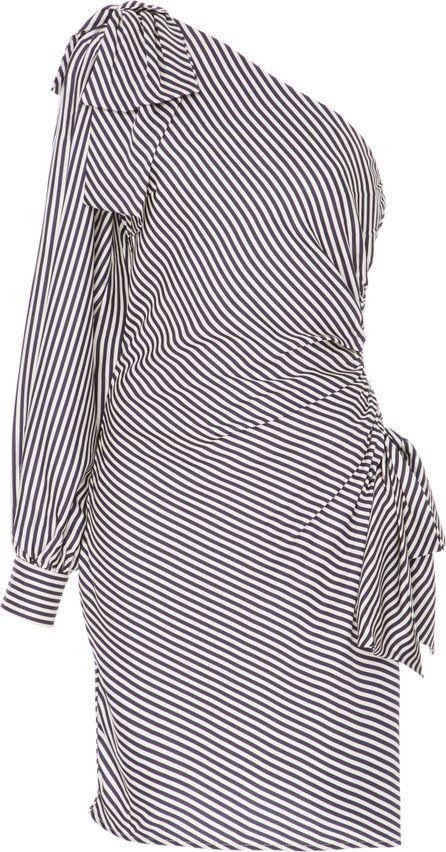 Zimmermann Striped One-Shoulder Ruched Dress