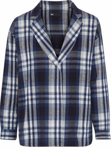 3X1 Moxy checked cotton-flannel blazer