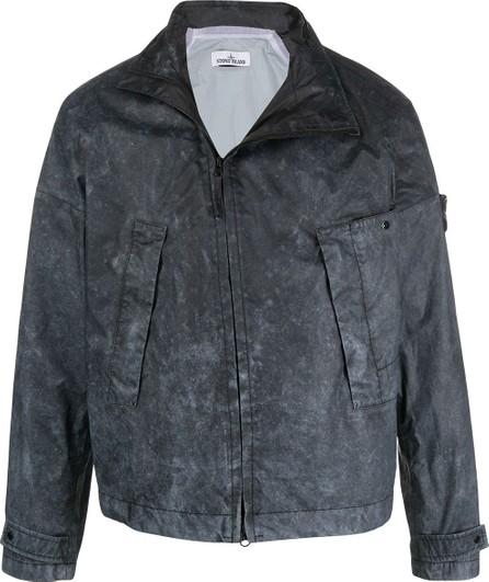 Stone Island Washed effect bomber jacket