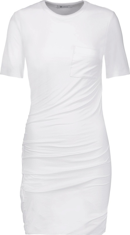 T By Alexander Wang Ruched stretch-jersey mini dress