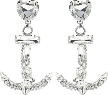 Alessandra Rich Crystal anchor earrings