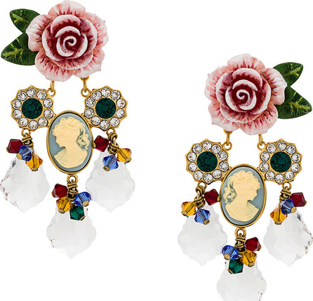 Dolce & Gabbana Rose and crystal earrings