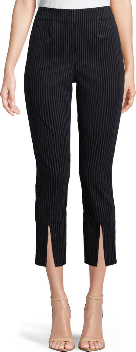 FRAME DENIM Striped Split-Front Cropped Pants