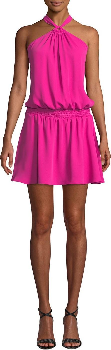 Amanda Uprichard Australia Halter Blouson Mini Dress
