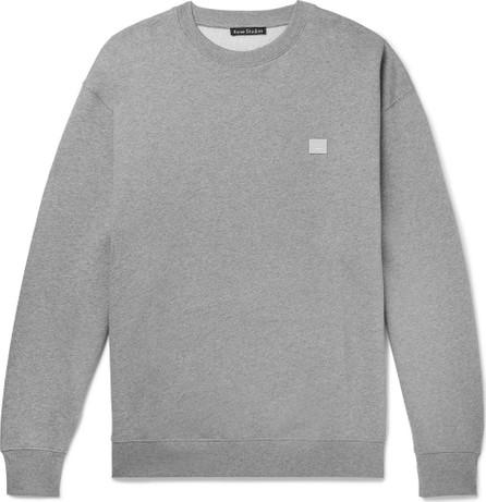 Acne Studios Forba Logo-Appliquéd Mélange Loopback Cotton-Jersey Sweatshirt