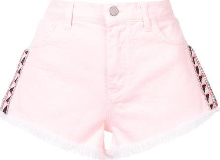 Amen denim patched shorts