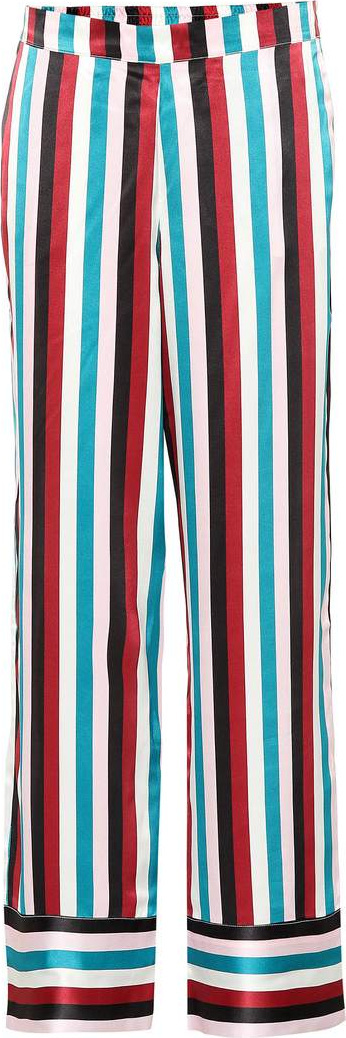 Asceno Striped silk pajama pants