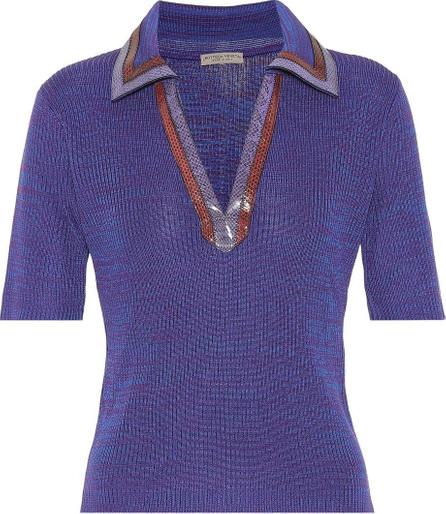 Bottega Veneta Snakeskin-trimmed sweater