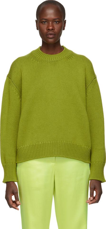 Mansur Gavriel Green Oversized Wool Sweater