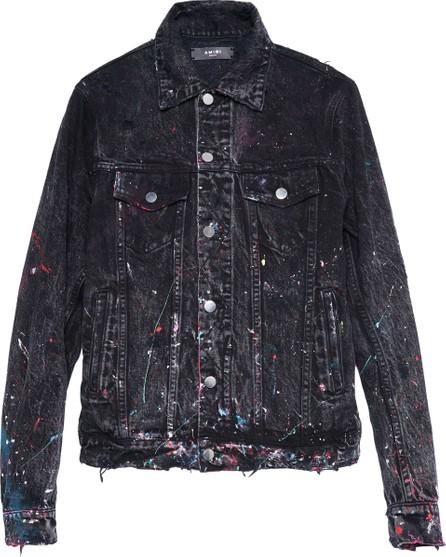 Amiri paint splatter neon trucker jacket