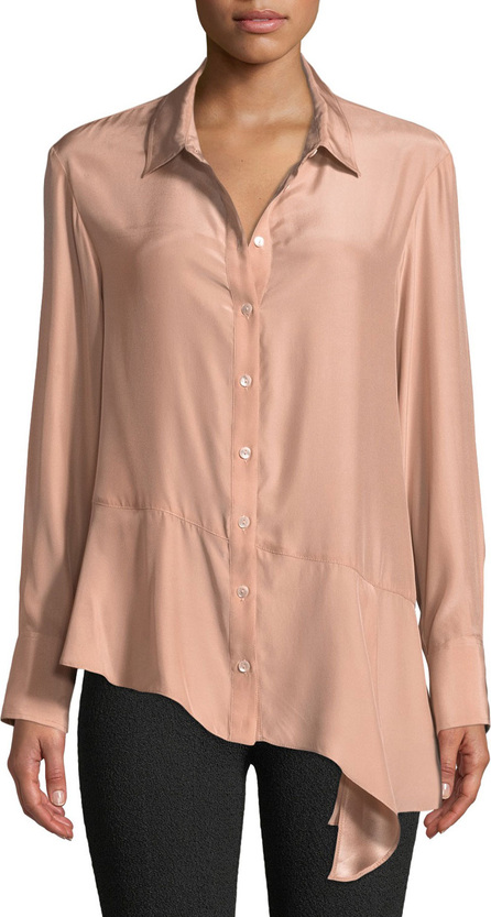 Nanette Lepore Henchman Asymmetric Silk Blouse