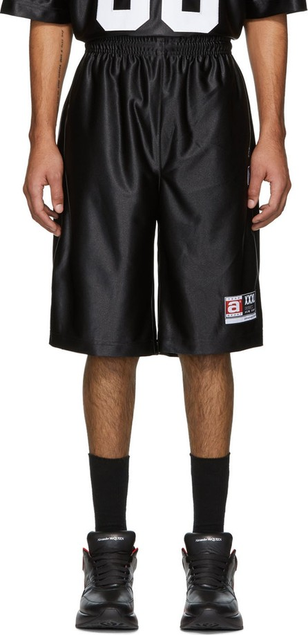 Alexander Wang Black High Shine Jersey Shorts