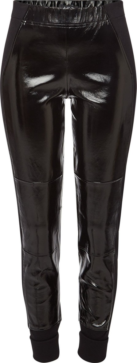 A.P.C. Wanda Leather Pants with Rolled