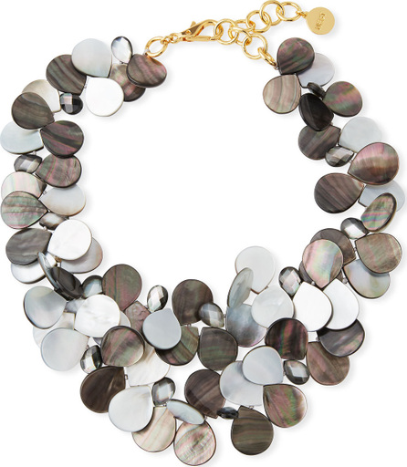 NEST Jewelry Mother-of-Pearl Cluster Bib Statement Necklace