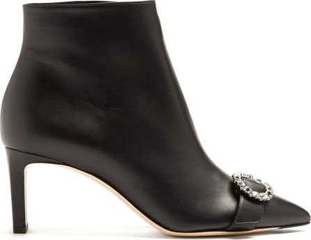 Jimmy Choo Hanover 65mm leather ankle boots