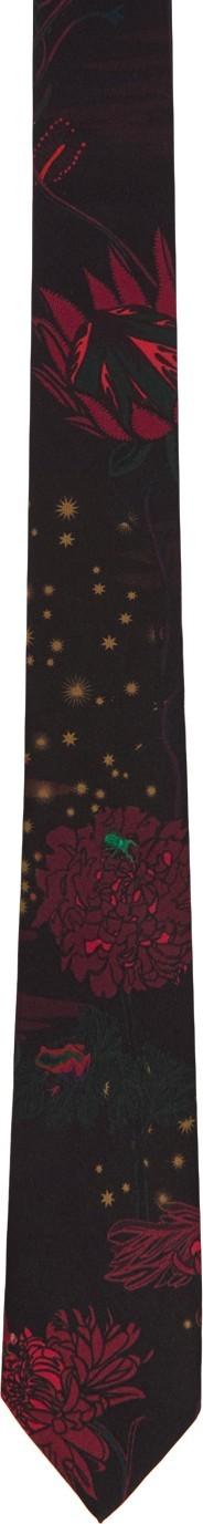 Paul Smith Burgundy Silk Dreamer Flower Tie