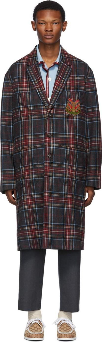 Gucci Grey Crest Coat