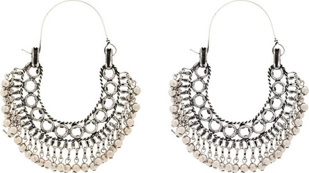 Saint Laurent Silver-tone Folk ball detail earrings