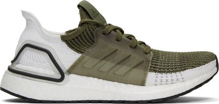 Adidas Originals Khaki & White UltraBOOST 19 Sneakers