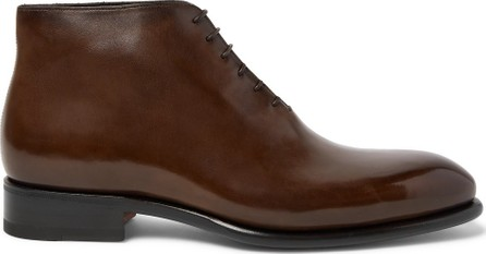 Santoni Whole-Cut Leather Boots
