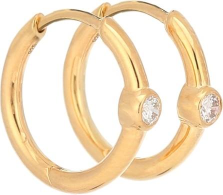Theodora Warre Love gold-plated hoop earrings with diamonds
