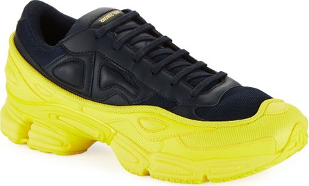Adidas By Raf Simons Men's Ozweego Dipped Color Trainer Sneakers, Blue/Yellow