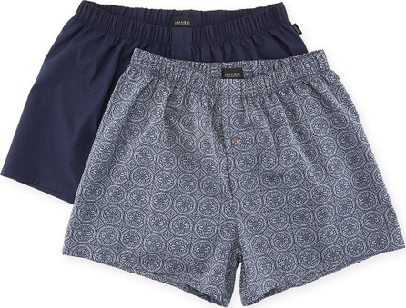Hanro Fancy Woven Boxer 2-Pack Set