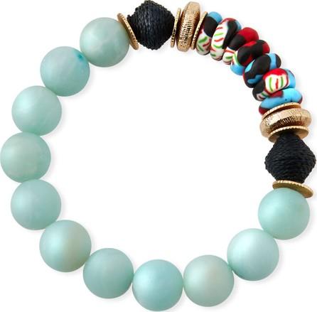 Akola Amazonite & Glass Bead Bracelet