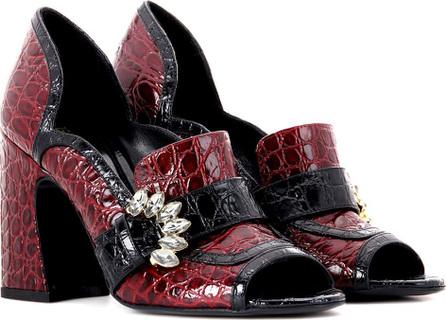 Erdem Martha embellished leather pumps