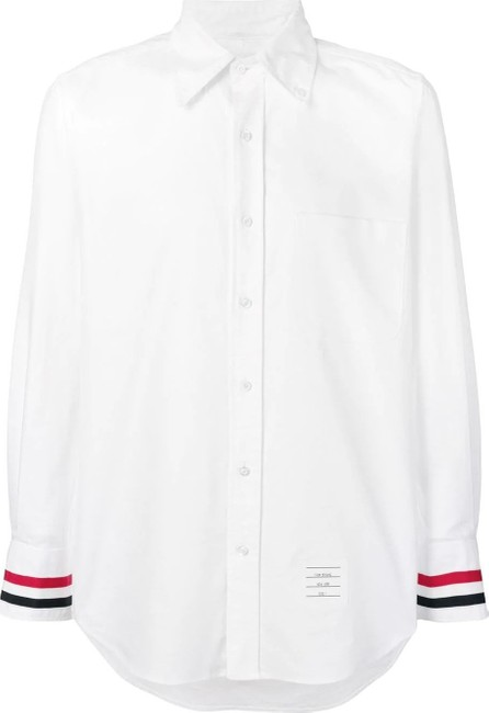 Thom Browne Grosgrain Cuff Oxford Shirt