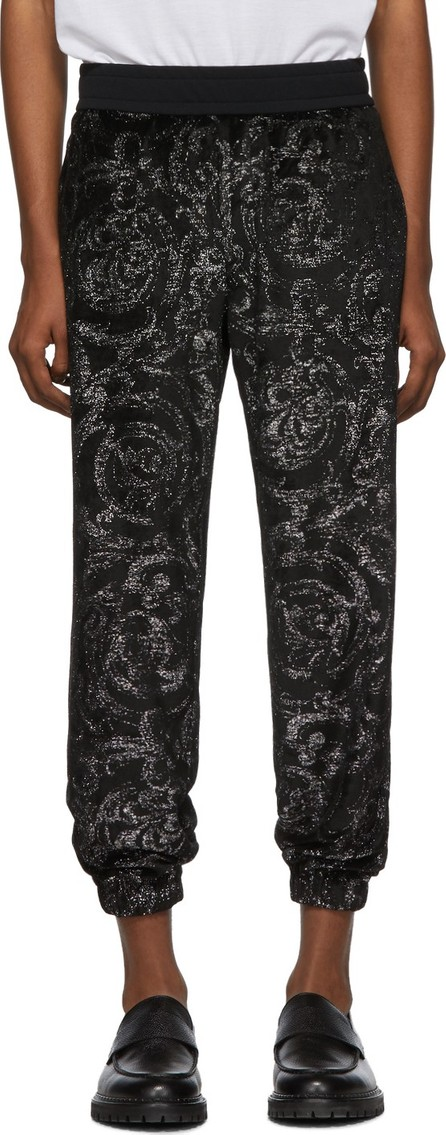 Versace Black Baroque Lounge Pants