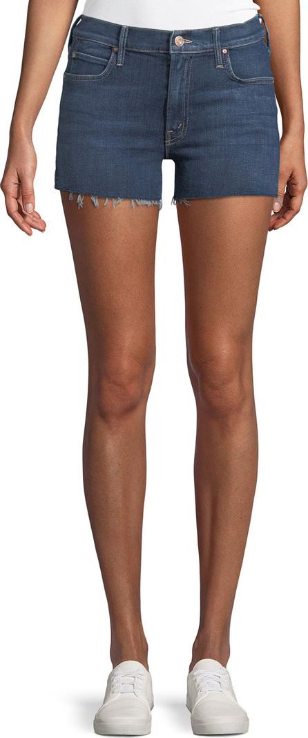 MOTHER Charmer Frayed Denim Shorts