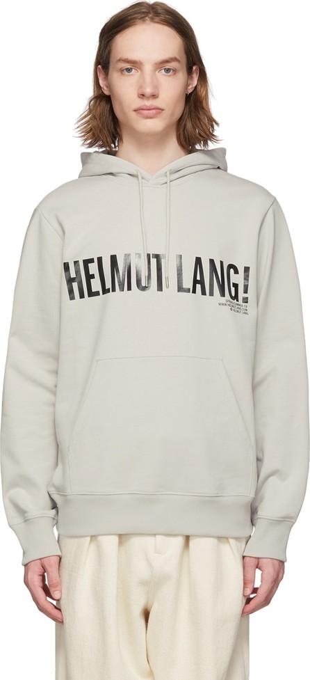 Helmut Lang Grey Exclamation Hoodie