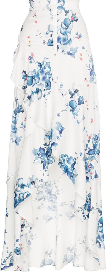 Off White X Browns floral print maxi ruffle skirt