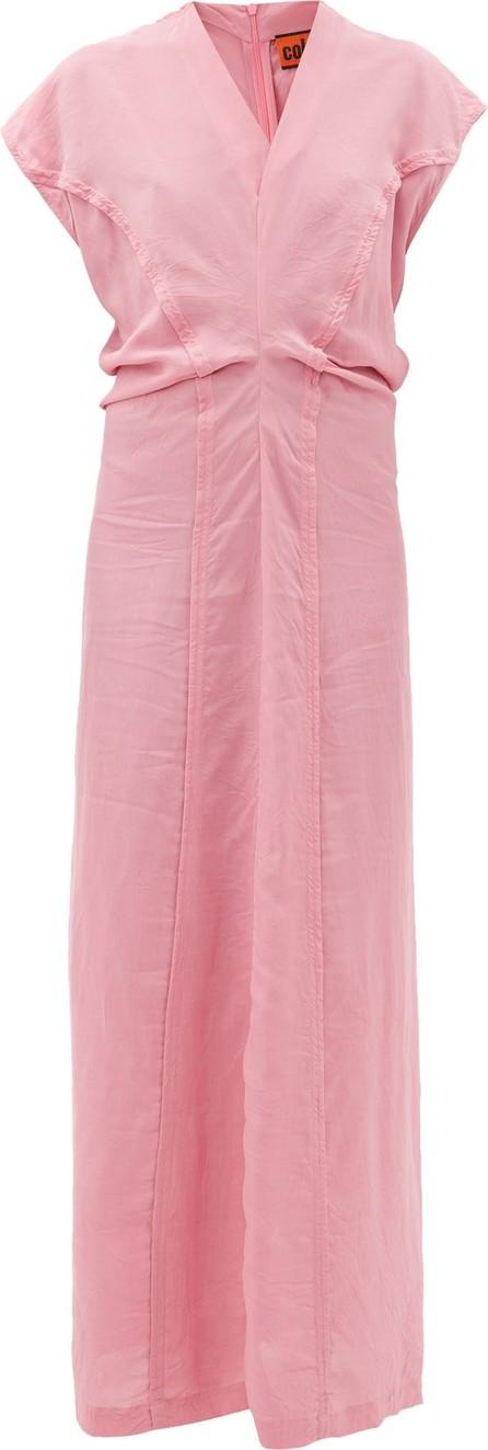 Colville Cap-sleeve panelled dress