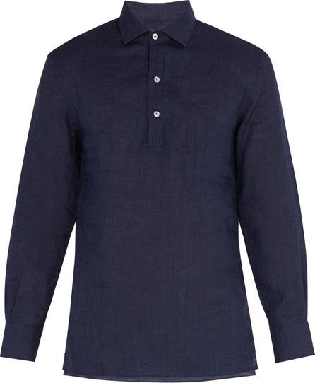 Frescobol Carioca Point collar half-button shirt