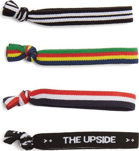 The Upside Set of four logo hair ties