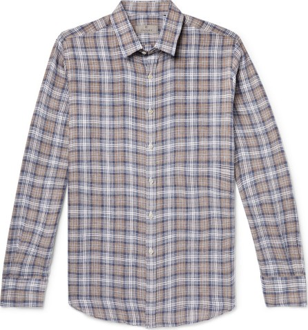 Canali Checked Linen Shirt