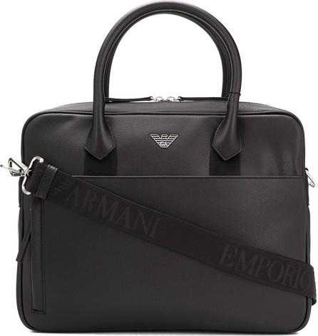 Emporio Armani Logo-plaque zipped briefcase