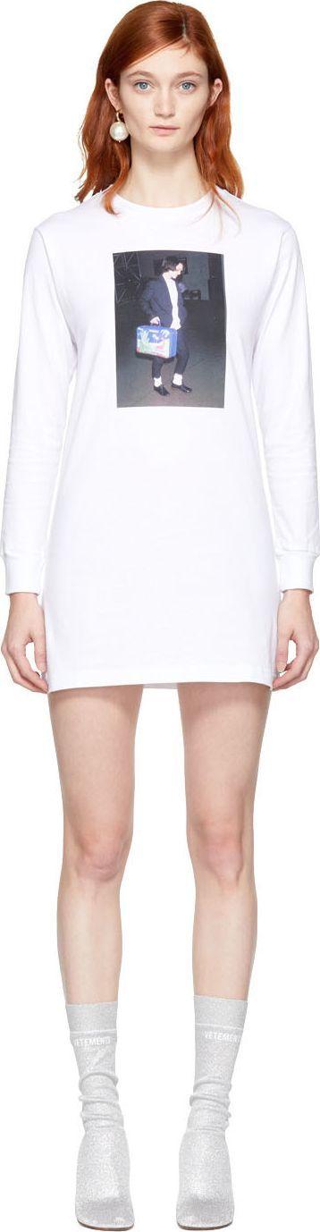 Ashley Williams SSENSE Exclusive White Winona T-Shirt Dress