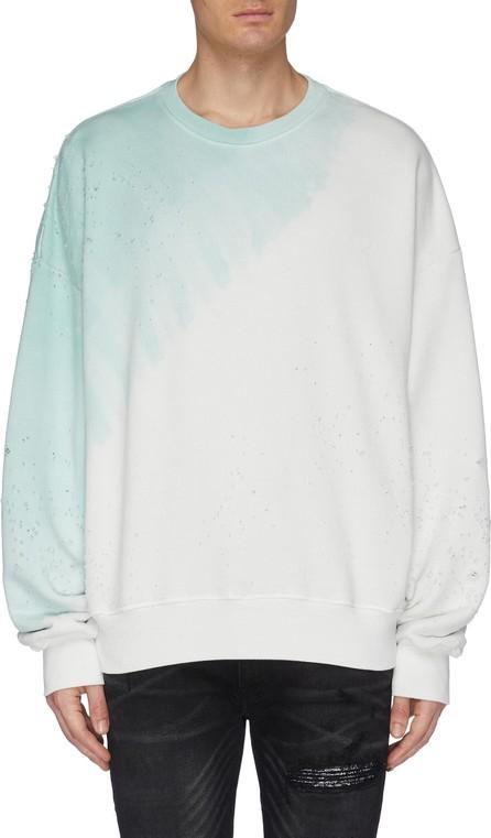 Amiri 'Shotgun' tie-dye effect distressed sweatshirt