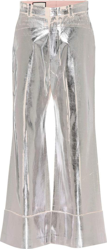Gucci Metallic trousers