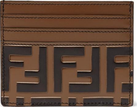 Fendi Logo-Embossed Leather Cardholder