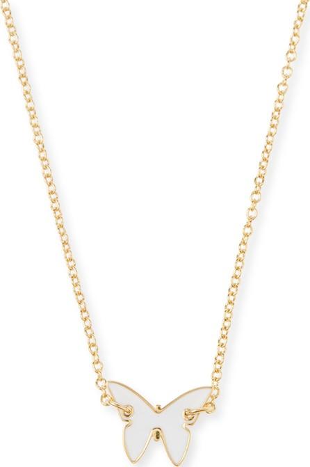Jennifer Zeuner Jewelry Mariah Mini Enamel Necklace  White