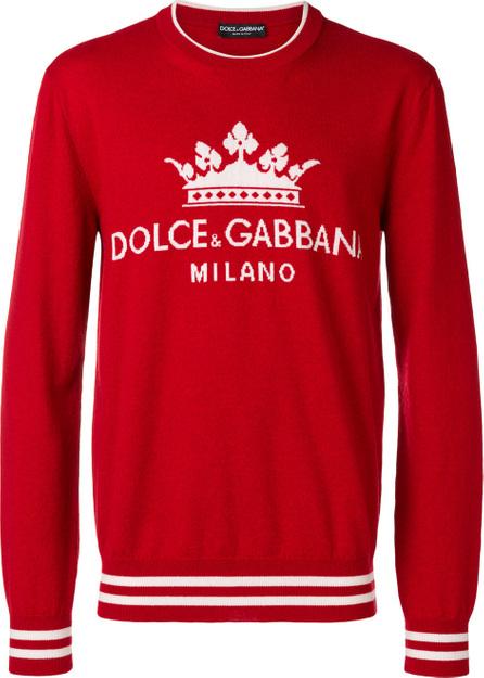 Dolce & Gabbana Logo embroidered sweater